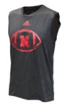 Adidas Nebraska Football Sleeveless Climalite Tee