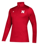Adidas Nebraska Freelift Sport Quarter Zip Climalite
