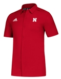 Adidas Nebraska Full Button Game Mode Polo - Red
