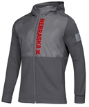 Adidas Nebraska Game Mode Full Zip Jacket - Grey