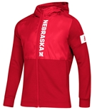 Adidas Nebraska Game Mode Full Zip Jacket - Red