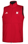 Adidas Nebraska Game Mode Full Zip Vest - Red