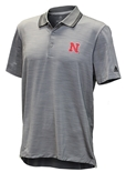 Adidas Nebraska Ultimate Textured Golf Polo