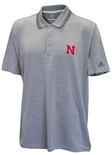 Adidas Nebraska Ultra Textured Golf Polo