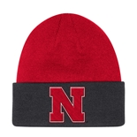 Adidas Official 2019 Coaches  Sideline Huskers Beanie - Black N Red