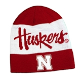 Adidas Official 2019 Coaches  Sideline Huskers Beanie - Red N White