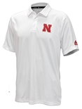 Adidas Official 2019 Husker Coaches Sideline Game Mode Polo - White