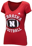Adidas Womens Nebraska Football Gameday Triblend