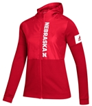 Adidas Womens Nebraska Game Mode Full Zip Jacket