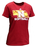 Adidas Womens Nebraska State Softball Tee