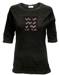 Black Chevron N Bling Tee