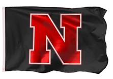 Black N Red Nebraska Flag