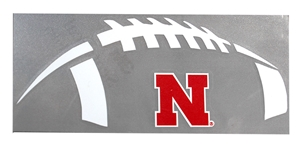 Football Nebraska Decal