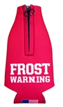 Frost Warning Zippered Bottle Cooler