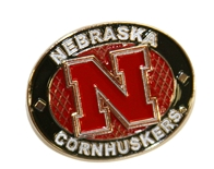 Husker Oval Pin