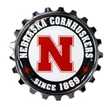 Huskers Bottle Cap Metal Car Emblem