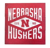 Huskers Diamond Wood Sign