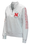 Huskers Womens Sanded Quarter Zip - Oatmeal