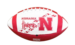 Jr. Rubber Football with New N Husker Logo