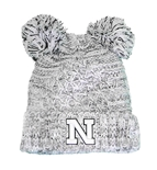 Kids Nebraska Duel Pom Knit Hat
