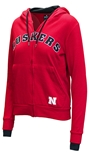 Ladies Nebraska Arch Full Zip Hoodie
