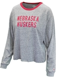 Ladies Nebraska Huskers Crop