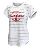 Ladies University of Nebraska Nora Striped Tee