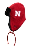 N Huskers Helmet Head Trapper Knit Hat