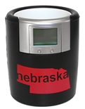 Nebraska Black Bevometer Can Cooler