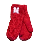 Nebraska Cable Knit Mittens