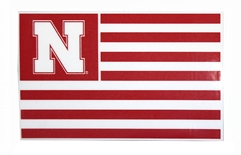 Nebraska Flag Square Decal Color Shock