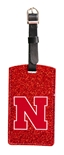 Nebraska Glitter Bag Tag