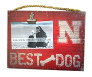 Nebraska Huskers Best Dog Clip Frame