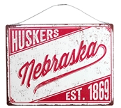 Nebraska Huskers Legacy Tin Sign