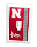 Nebraska Huskers Night Light Switch