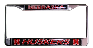 Nebraska Huskers Polished License Frame