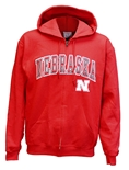 Nebraska Iron N Champion Full Zip Hood