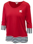 Nebraska Ladies Colorblock Tee