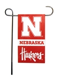 Nebraska Mini Two Sided Garden Flag