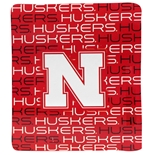 Nebraska N Huskers Fleece Throw