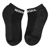 Nebraska No Show Black Sock