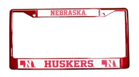 Nebraska State Chrome License Frame