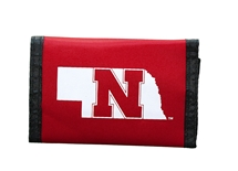 Nebraska State Nylon Wallet