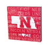 Nebraska State Shape Table Top Sign