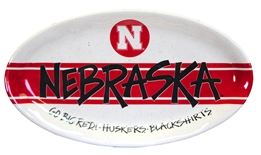 Nebraska Striped Gameday Platter