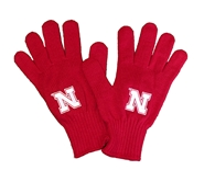 Nebraska Tailgate Knit Gloves