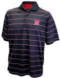 Nebraska Thin Stripe Antigua Golf Shirt