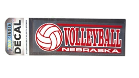 Nebraska Volleyball Decal