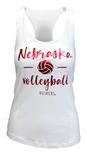 Nebraska Volleyball Womens Racer Tank
