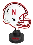 Neon Nebraska Football Helmet Desk Lamp